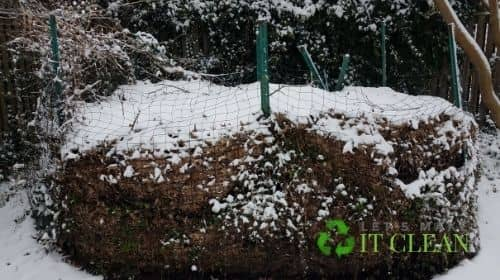 Big Compost Pile In Winter