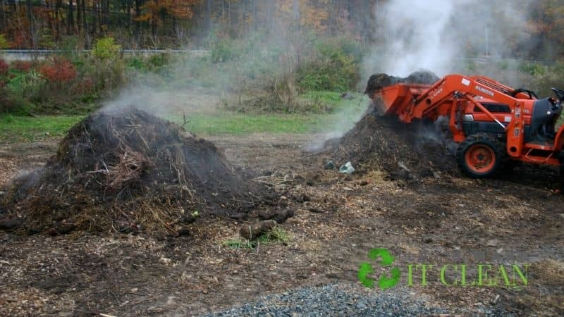 Pile Of Hot Compost