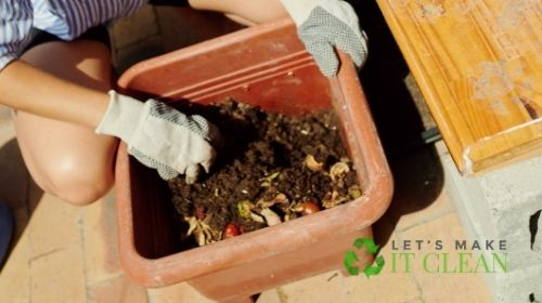 Lady Turns Compost